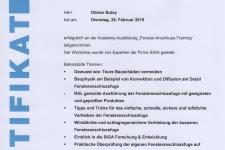 "SIGA ""Fenster-Anschluss-Training"" 2019 Hr. Ditmar Buley"