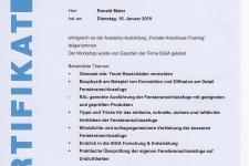 "SIGA ""Fenster-Anschluss-Training"" 2019 Hr. Ronald Meier"