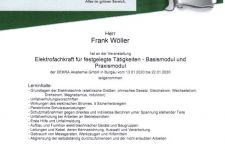 Roma - Elektrofachkraft für festgelegte Tätigkeiten - Basismodul und Praxismodul 2020 Frank Wöller
