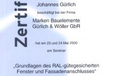 Internorm RAL-Montage 2000 - Hr. Gürlich