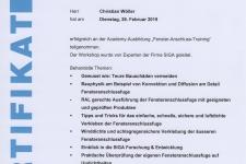 "SIGA ""Fenster-Anschluss-Training"" 2019 Hr. Christian Wöller"