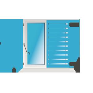 Kurbelantrieb (KA-FR) Fensterrahmenmontage
